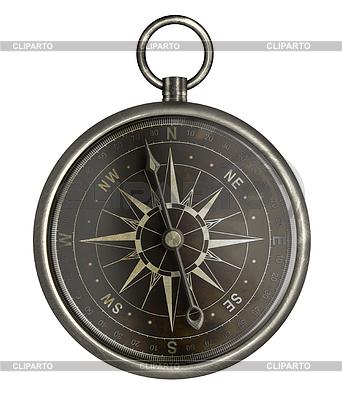 Antyczny kompas srebrny z ciemnej twarzy | Foto stockowe wysokiej rozdzielczości |ID 3659018