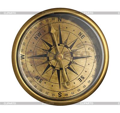 Starożytny nawigacyjny kompas | Foto stockowe wysokiej rozdzielczości |ID 3659026