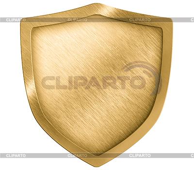 Goldenen Metall Schild oder Wappen | Foto mit hoher Auflösung |ID 3659066
