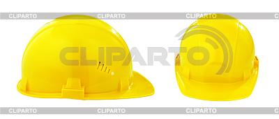 Dwa różne widoki żółty bezpieczeństwa kask z | Foto stockowe wysokiej rozdzielczości |ID 3659146