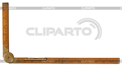 Antique Carpenter `s bukszpan składane zasada 19-ta | Foto stockowe wysokiej rozdzielczości |ID 3659186