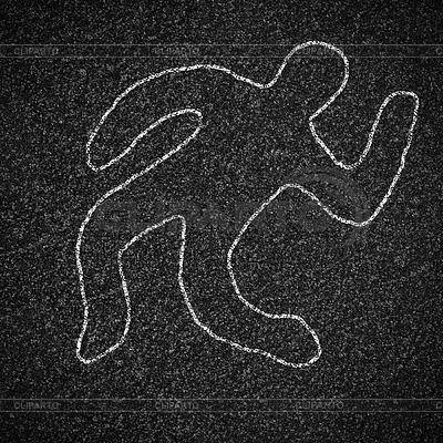 Chalk Umrisse toter Körper auf Asphalt | Foto mit hoher Auflösung |ID 3659287