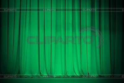 Zielona kurtyna teatru lub szmaragd | Foto stockowe wysokiej rozdzielczości |ID 3659289