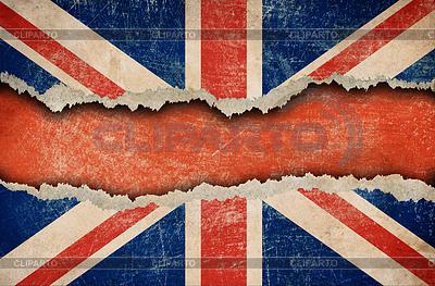 Grunge britische Flagge auf zerrissenes Papier | Foto mit hoher Auflösung |ID 3659322