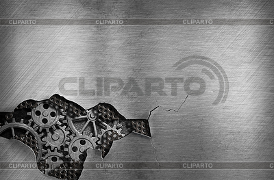 Metal background with mechanical damage and | Foto stockowe wysokiej rozdzielczości |ID 3659338