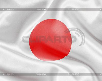 Japonia flaga satyny lub jedwabiu | Foto stockowe wysokiej rozdzielczości |ID 3659465