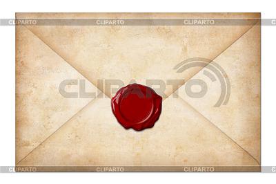 Grunge koperta lub list z pieczęcią lakową | Foto stockowe wysokiej rozdzielczości |ID 3659544