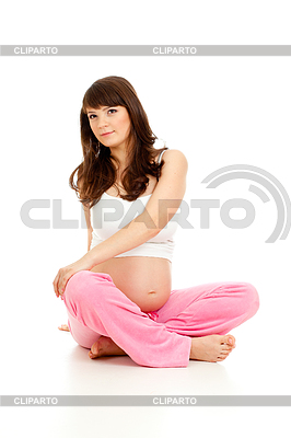 Schwangere Frau zu turnen | Foto mit hoher Auflösung |ID 3659686