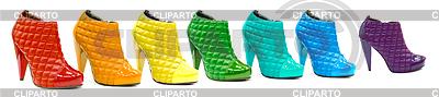 Variety aller Regenbogenfarben in Lackleder | Foto mit hoher Auflösung |ID 3659829