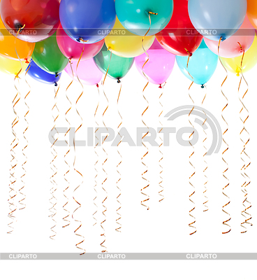 Colourful balloons filled with helium and with | Foto stockowe wysokiej rozdzielczości |ID 3660599