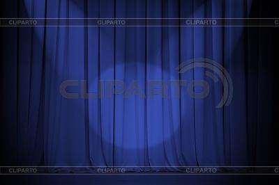 Theater blue curtain with two lights cross | Foto stockowe wysokiej rozdzielczości |ID 3660780
