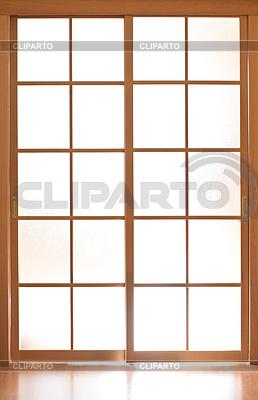 Glasschiebetür in japan style | Foto mit hoher Auflösung |ID 3660783