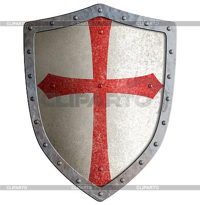 Templar or crusader knight`s metal shield | Stockowa ilustracja wysokiej rozdzielczości |ID 4647029