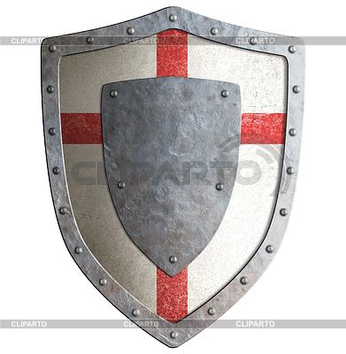 Alte Templer Kreuzritter oder Metallabschirmung | Illustration mit hoher Auflösung |ID 4647031