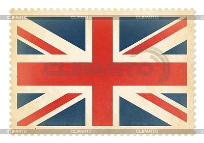 Brittish Briefmarke mit Großbritannien Flagge. Cli | Illustration mit hoher Auflösung |ID 4647727