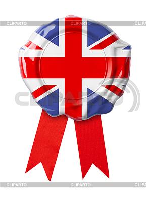 Britischen oder UK-Flagge Dichtung mit Band | Foto mit hoher Auflösung |ID 4648146