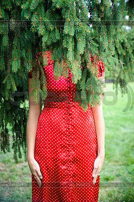 Женщина елку | Фото большого размера |ID 3666717