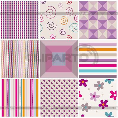 Set von nahtlosen Mustern | Stock Vektorgrafik |ID 3683379