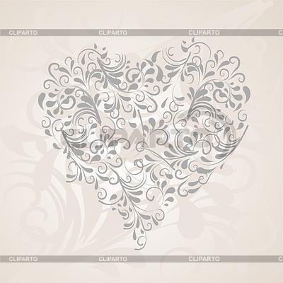 Herz aus Ornamenten | Stock Vektorgrafik |ID 3683417
