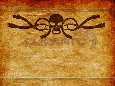 Grunge czaszki i węża | Stockowa ilustracja wysokiej rozdzielczości |ID 4617557