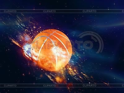 Basketball-Ball Fliegen | Illustration mit hoher Auflösung |ID 4619694
