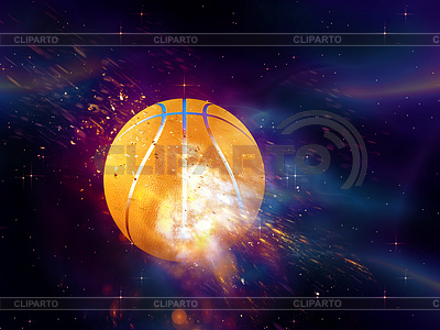 Basketball-Ball Fliegen | Illustration mit hoher Auflösung |ID 4619695