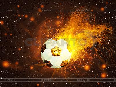Ball für Fußball im Feuer | Illustration mit hoher Auflösung |ID 4619748