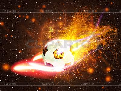 Ball für Fußball im Feuer | Illustration mit hoher Auflösung |ID 4619749
