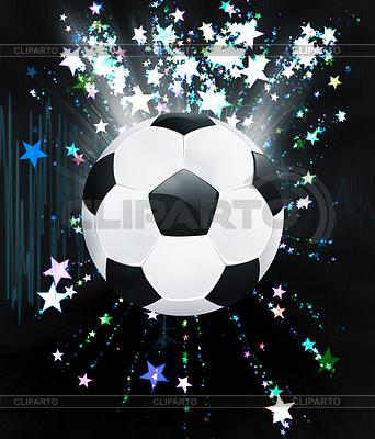 Sterne Explosionen und Fußball- | Illustration mit hoher Auflösung |ID 4619760
