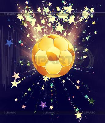 Sterne Explosionen und Fußball- | Illustration mit hoher Auflösung |ID 4619762