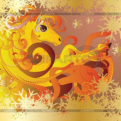 Pferd mit Flamme | Illustration mit hoher Auflösung |ID 4623430