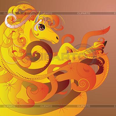 Pferd mit Flamme | Illustration mit hoher Auflösung |ID 4623431