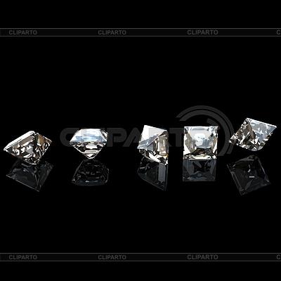 Sammlungen von Schmuck Edelsteine. Cognac Diamanten | Illustration mit hoher Auflösung |ID 3521648