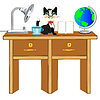 Vector clipart: Worker table
