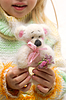 Handmade teddy bear in hands | Stock Foto