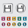 Vector clipart: Magnetic floppy disc icon