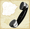 Vintage card with handset