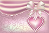 Valentine's Day banner with heart and pearls, il