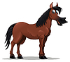 Vector clipart: Funny horse