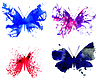 Vector clipart: Watercolor Butterflies